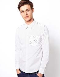 Chocoolate Black Shirt With Stars And Spots White