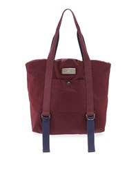 Adidas By Stella Mccartney Yoga Tote Bag Maroon Blue Gray Maroon Blue Grey