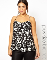 Alice And You Floral Print Cami Top Blackcreamfloral