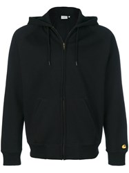 Carhartt Zip Up Hoodie Cotton Polyester M Black