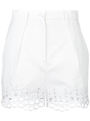 Carven Broderie Anglaise Shorts White