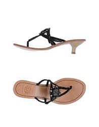 Maliparmi Footwear Thong Sandals Women Black