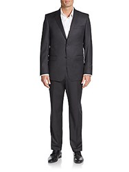 Michael Kors Regular Fit Wool Suit Charcoal