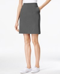 Styleandco. Style And Co. Pull On Skort Only At Macy's New Graphite Grey