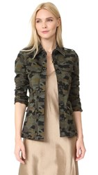 L'agence The Cromwell Military Jacket Camo Multi