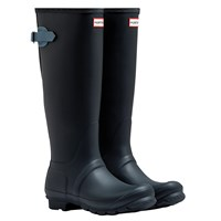 Hunter Original Tall Adjustable Wellington Boots Navy