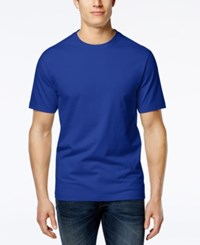 Club Room Men's Big And Tall Solid Crew Neck T Shirt Only At Macy's
