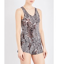Skin Leopard Print Cotton Pyjama Top