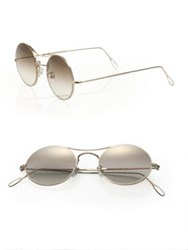 Kyme 49Mm Round Mirror Sunglasses Gold