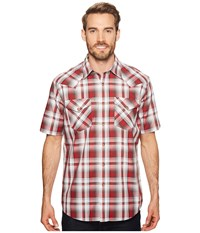 Pendleton Frontier Shirt Short Sleeve Red Grey White Plaid Short Sleeve Button Up Multi