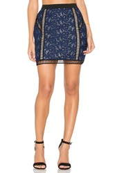 Endless Rose Mini Skirt Navy