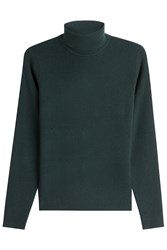 Victoria Beckham Wool Turtleneck Pullover Green