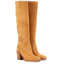 Mcq By Alexander Mcqueen Suede Knee High Boots Brown