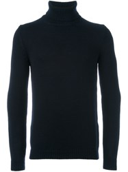 Roberto Collina Turtle Neck Jumper Blue