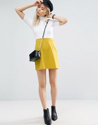 Asos Tailored A Line Mini Skirt Chartreuse Yellow