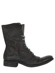 A Diciannoveventitre Washed Leather Lace Up High Boots