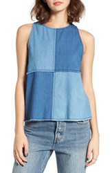 Women's Bp. Denim Patchwork Tank
