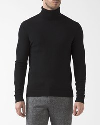 Theory Black 100 Cashmere Polo Neck Donners Pullover
