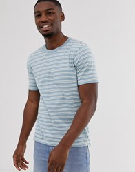 Hymn Striped Ringer T Shirt Blue