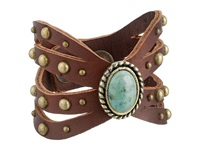 Leather Rock B664 Cordovan Bracelet Burgundy