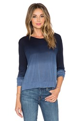 Lna Crop Long Sleeve Tee Navy