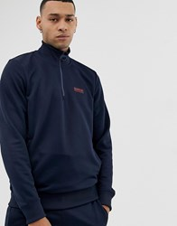 Barbour International Half Zip Tricot Sweat In Navy