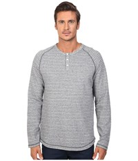 Original Penguin Long Sleeve Lightweight French Terry Henley Dark Sapphire Men's Long Sleeve Pullover Blue