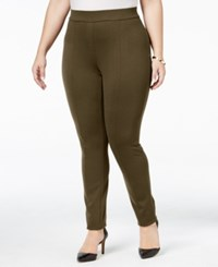Styleandco. Style Co. Plus Size Seamed Leggings Only At Macy's Tobacco