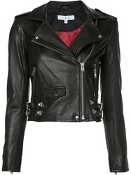 Iro Cropped Biker Jacket Black