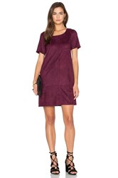 Bishop Young Ivy Suede Shift Dress Burgundy