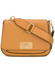 Marc Jacobs Navigator Saddle Crossbody Bag Brown
