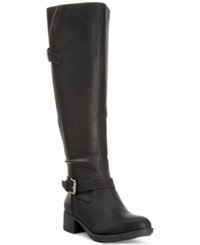 Style And Co. Gayge Tall Riding Boots Only At Macy's Women's Shoes Black