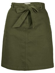 Fat Face Tilly Tie Chino Skirt Seaweed