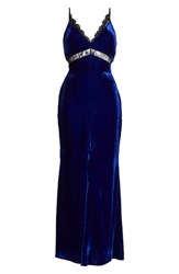 Harlyn Velvet Maxi Dress Electric Blue