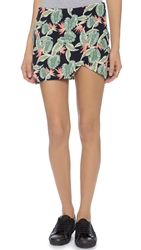 For Love And Lemons Aloha Skirt Bird Of Paradise Black