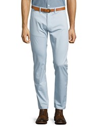 Selected Slim Fit Belted Chino Pants Skyway Blue