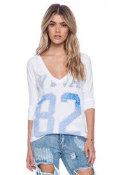Rebel Yell Viva 82 Ridgerunner Football V Tee White