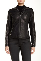 Kenneth Cole Faux Leather Jacket Black
