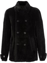Desa Collection Double Breasted Fur Coat Brown