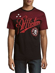 Affliction Brave Recon Short Sleeve Tee Black Red