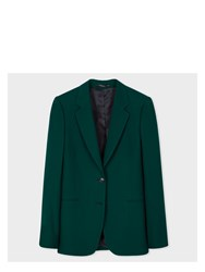 Paul Smith A Suit To Travel In Women's Dark Green Two Button Wool Blazer