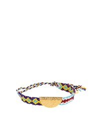 Lucy Folk Taco Gold Plated Friendship Bracelet Yellow Gold