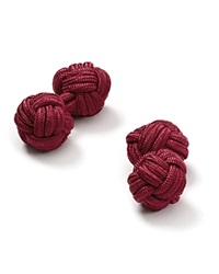 The Men's Store At Bloomingdale's Round Knot Cufflinks Burgundy