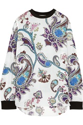 Mary Katrantzou Guyn Printed Silk Chiffon Top