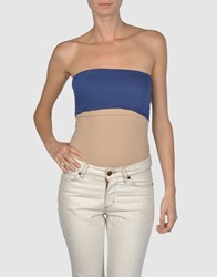 Jucca Topwear Tube Tops Women Blue