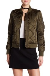 Bcbgeneration Quilted Bomber Jacket Green