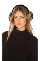 Hat Attack Luxe Knit Rabbit Earmuffs Brown