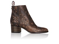 Valentino Women's Santeria Leather Ankle Booties Tan