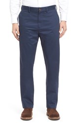 Nordstrom Men's Big And Tall Men's Shop Wrinkle Free Straight Leg Chinos Navy Iris