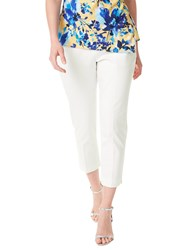 Precis Petite Twill Cropped Trousers White